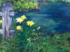 Lillies On Mill, 2011 (Oil on Linen)