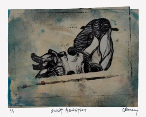 Elicit Acquisition [Ed. 1/1], 2010 (Monotype/Lithograph Collage)